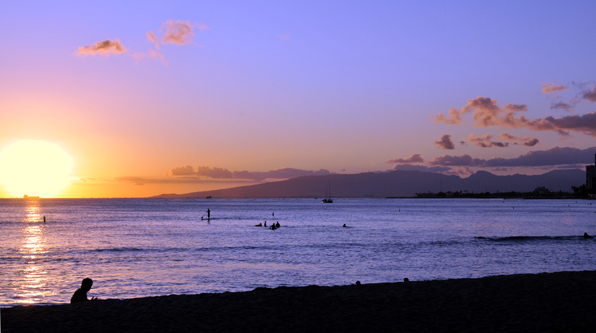 Honolulu Twilight by Lorrie Morrison